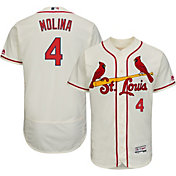Majestic Men's Authentic St. Louis Cardinals Yadier Molina #4 Alternate Ivory Flex Base On-Field Jersey