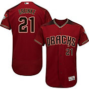 Majestic Men's Authentic Arizona Diamondbacks Zack Greinke #21 Alternate Red Flex Base On-Field Jersey