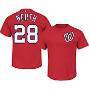 Majestic Men's Washington Nationals Jayson Werth #28 Red T-Shirt