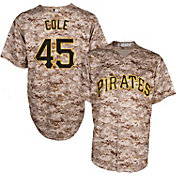Majestic Men's Replica Pittsburgh Pirates Gerrit Cole #45 Cool Base Alternate USMC Camo Jersey