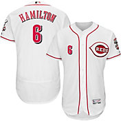 Majestic Men's Authentic Cincinnati Reds Billy Hamilton #6 Home White Flex Base On-Field Jersey