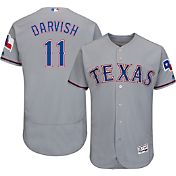 Majestic Men's Authentic Texas Rangers Yu Darvish #11 Road Grey Flex Base On-Field Jersey