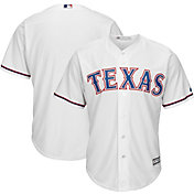 Majestic Men's Replica Texas Rangers Cool Base Home White Jersey