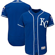 Majestic Men's Authentic Kansas City Royals Alternate Royal Flex Base On-Field Jersey
