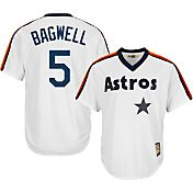 Majestic Men's Replica Houston Astros Jeff Bagwell Cool Base White Cooperstown Jersey