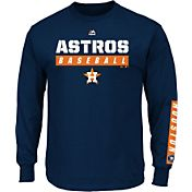 Majestic Men's Houston Astros Proven Pastime Navy Long Sleeve Shirt