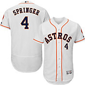 Majestic Men's Authentic Houston Astros George Springer #4 Home White Flex Base On-Field Jersey