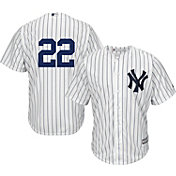 Majestic Men's Replica New York Yankees Jacoby Ellsbury #22 Cool Base Home White Jersey