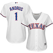 Majestic Women's Replica Texas Rangers Elvis Andrus #1 Cool Base Home White Jersey