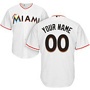 Majestic Youth Custom Cool Base Replica Miami Marlins Home White Jersey