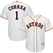 Majestic Youth Replica Houston Astros Carlos Correa #1 Cool Base Home White Jersey