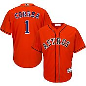 Majestic Youth Replica Houston Astros Carlos Correa #1 Cool Base Alternate Orange Jersey