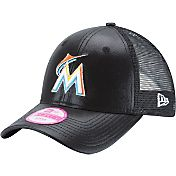 New Era Women's Miami Marlins 9Forty Glam Team Black Adjustable Hat