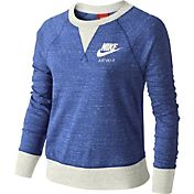 Nike Girls' Sportswear Gym Vintage Long Sleeve Crewneck Shirt