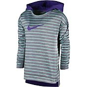 Nike Little Girls' Therma-FIT Heather Stripe Hoodie