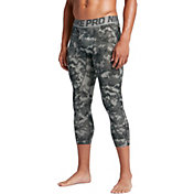 Nike Men's Pro Hypercool 3/4 Length Digi Camo Printed Compression Tights