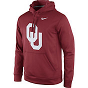 Nike Men's Oklahoma Sooners Crimson Performance Practice Hoodie