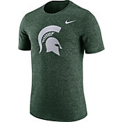 Nike Men's Michigan State Spartans Green Marled Logo T-Shirt