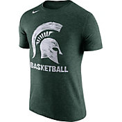Nike Men's Michigan State Spartans Green Basketball Tri-Blend T-Shirt