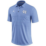 Jordan Men's North Carolina Tar Heels Carolina Blue Early Season Football Polo