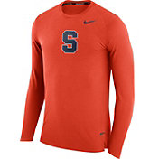 Nike Men's Syracuse Orange March Basketball Orange Performance Long Sleeve Shirt
