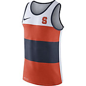 Nike Men's Syracuse Orange White/Orange/Blue Wide Stripe Dri-Blend Tank