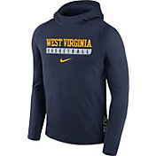 Nike Men's West Virginia Mountaineers Blue ELITE Basketball Performance Hoodie