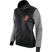 Nike Women's San Francisco Giants Black/Grey Full-Zip Track Jacket