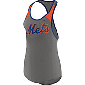 Nike Women's New York Mets Dri-FIT Grey Wordmark Tank Top