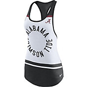 Nike Women's Alabama Crimson Tide White/Black Circle Dri-Blend Tank Top
