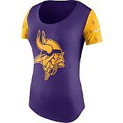 Nike Women's Minnesota Vikings 1st String Tri-Blend Purple T-Shirt