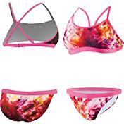 Nike Women's Fractured Tie-Dye Adjustable 2-Piece Swimsuit
