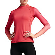 Nike Women's Pro Hyperwarm Fade Printed Long Sleeve Shirt