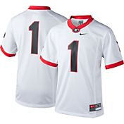 Nike Youth Georgia Bulldogs White #1 Game Football Jersey