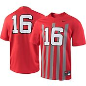 Nike Youth Ohio State Buckeyes #16 Scarlet Throwback Game Football Jersey