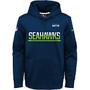 Nike Youth Seattle Seahawks Circuit Navy Pullover Hoodie