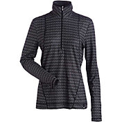Nils Women's Brooklyn Print Half-Zip Baselayer Long Sleeve Shirt