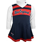 NFL Team Apparel Girls' New England Patriots Cheer Navy Jumper
