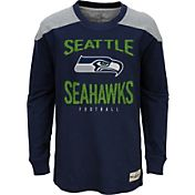 NFL Team Apparel Youth Seattle Seahawks Legend Navy Long Sleeve Shirt