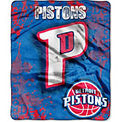 Northwest Detroit Pistons Dropdown Raschel Throw Blanket