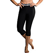 Onzie Women's Black Elastic Capris Leggings