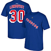 Reebok Men's New York Rangers Henrik Lundqvist #30 Replica Royal Player T-Shirt