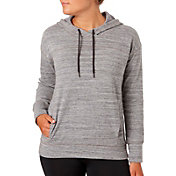 Reebok Women's Plus Size Overdye Brushed Fleece Hoodie