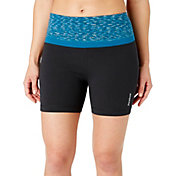 Reebok Women's Plus Size Printed High Waist Stretch Cotton 9'' Shorts