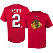 Reebok Youth Chicago Blackhawks Duncan Keith #2 Replica Home Player T-Shirt
