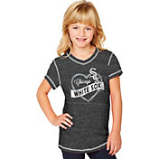 Soft As A Grape Youth Girls' Chicago White Sox Black V-Neck Shirt