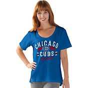 Touch by Alyssa Milano Women's Chicago Cubs Royal Scoop Neck T-Shirt