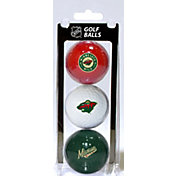 Team Golf Minnesota Wild Three Pack Golf Ball Set