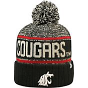 Top of the World Men's Washington State Cougars Black/White/Crimson Acid Rain Knit Beanie