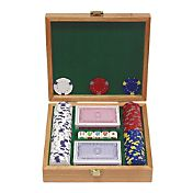 Trademark Poker 100 Pro Clay Casino Chip Poker Set and Case